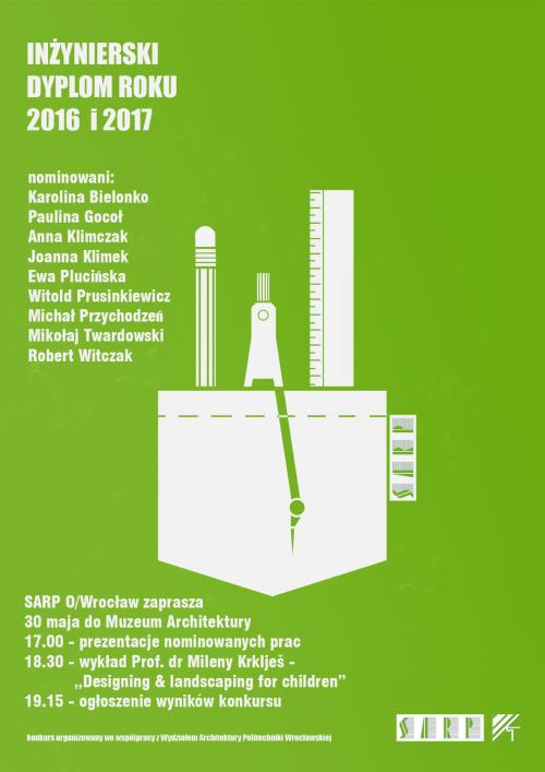 Konkurs SARP Wrocław Inżynierski Dyplom Roku - wyniki nominacji